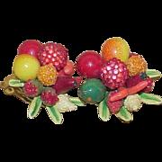 Vintage GERMANY Fruit Salad Earrings