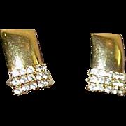 Vintage HOBE' Rhinestone Earrings