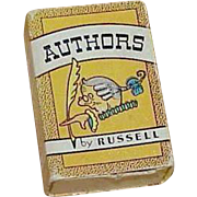Vintage Russell Press Inc. Miniature AUTHORS Game