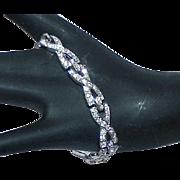 Vintage Art Deco Rhinestone Estate Bracelet