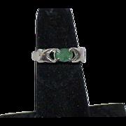 Vintage Sterling Emerald Ring