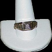 Vintage Gents 10k Gold Diamond Ring
