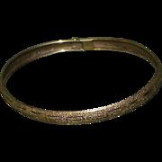 Vintage 10k Bangle Bracelet