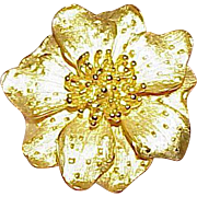 Vintage KENNETH J. LANE Huge Flower Brooch