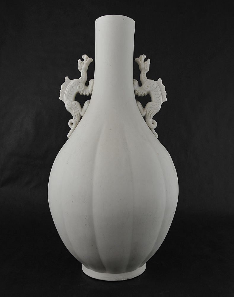 MAGNIFICENT! 19th Century Parian Two Handled Vase