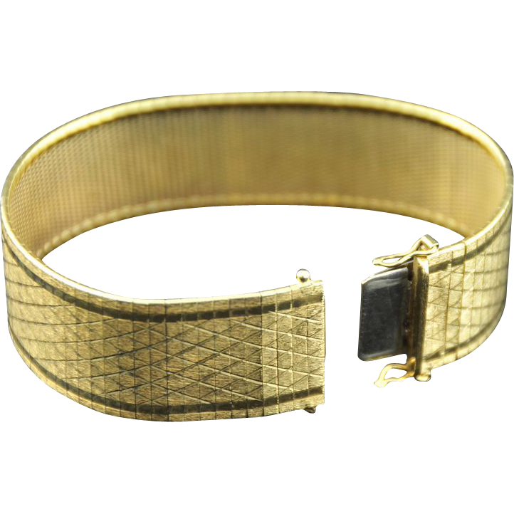 Superb! Italian 18K Yellow Gold Bracelet, Unisex