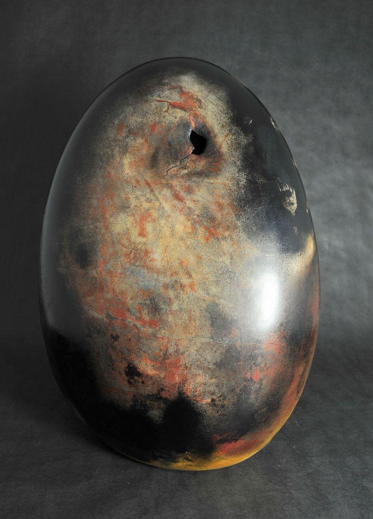 Free Form Pottery Egg, Studio Sculpture