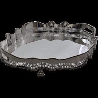 VINTAGE,  Silver Plate Gallery Centerpiece / Tea Tray