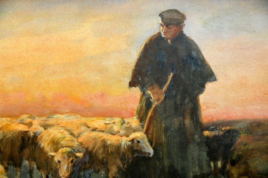 ANTIQUE, Dutch Watercolor,  Willem Steelink  II  (1856 - 1928)