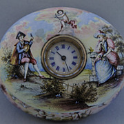 Exquisite and Rare Porcelain & Jewelled Timepiece Casket, Vienna circa 1800