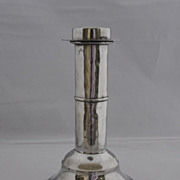 Antique Pewter Candlestick, 19th century