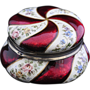 ANTIQUE & SPLENDID  Viennese, Silver with Gilt Red Enamel Casket, circa 1840