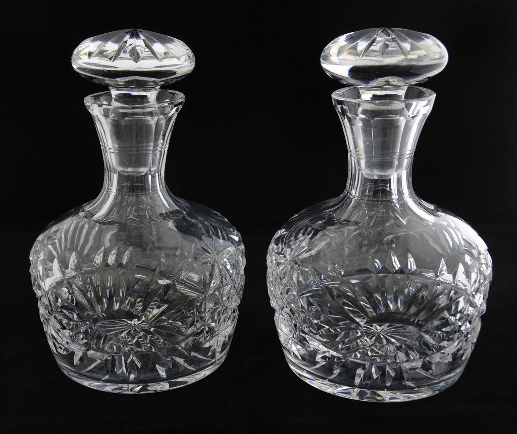 ANTIQUE & FLAWLESS  Pair Brilliant Period Decanters, (circa1876)