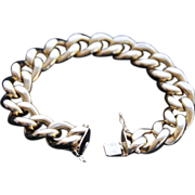 Extravagantly Beautiful ,  Italian 18K Yellow Gold Large Curb Link Unisex Bracelet