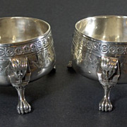 Antique Sheffield Silverplate Open Salts, 19th century