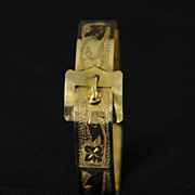 Vintage Rolled Gold Buckle Bracelet