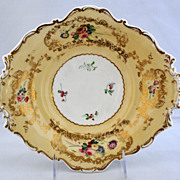 Antique Copeland Barret Spodes Porcelain Footed Dessert Plate, circa 1835