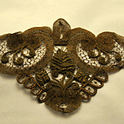 Antique,Rare & Opulent,  19th C. French Silk and Gold Passementerie
