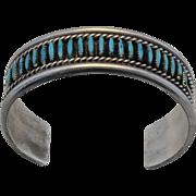 VINTAGE,  Native North American Zuni Turquoise Cuff