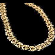 VINTAGE & STUNNING, Italian 18K  Gold  Byzantine Necklace