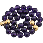 Absolute Perfection, Vintage 12mm. Purple Amethysts Necklace