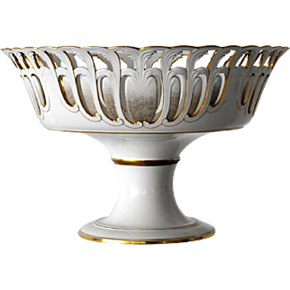 SEVRES circa 1860,  Magnificent and Rare Centerpiece Bowl