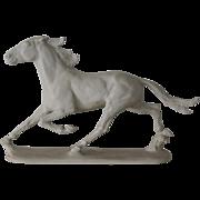 ANTIQUE,  Large Trotting Horse signed Albert Hinrich Hussmann