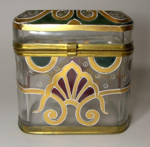 EXTRAORDINARY!   Mid 19th C. Moser Art Glass Casket
