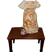 Tiny dollhouse doll size gown
