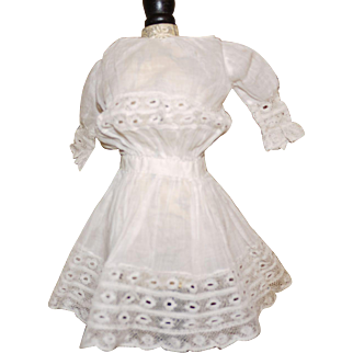 Small Antique white doll dress