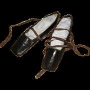 Pristine pair of antique slippers circa 1811