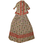 Antique wool dress for a china