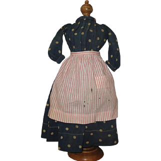Wonderful Early dress and apron for a china