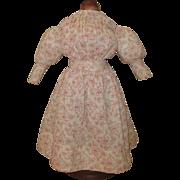 Roller print Antique doll dress