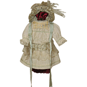 Antique original Tiny Bebe outfit and bonnet