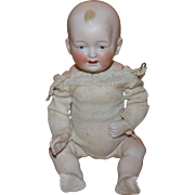 German all bisque baby 6 1/2 inches