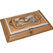 Antique card box with cards