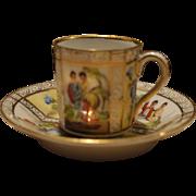 Antique hand painted miniature tea cup