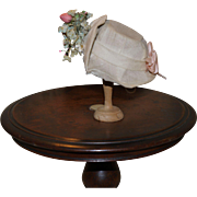 Vintage doll hat with tiny flowers