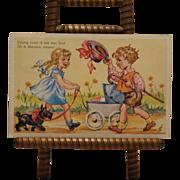 Vintage German postcard of children