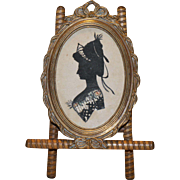 Antique Silhouette of a Lady