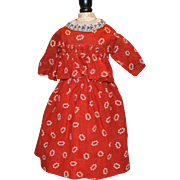 Two Piece antique doll outfit