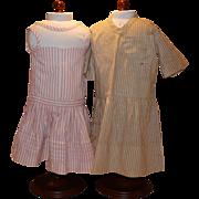 2 Antique doll dresses