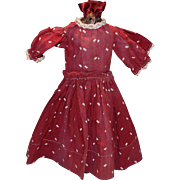 Small size antique doll dress