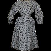 Wonderful Antique Dress for China or papier mache