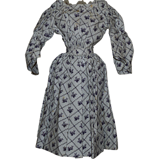 Wonderful Antique Dress for China or papier mache