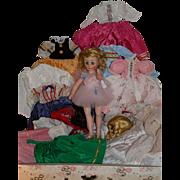 Madame Alexander Pamela with trunk and wardrobe