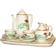 Antique doll tea set