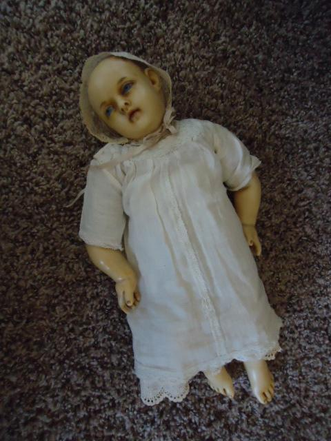 Beautiful French Original Poured Wax Baby