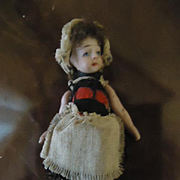All Original French Lilliputian All Bisque Girl